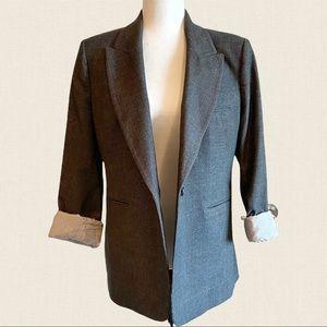 Zara long oversized plaid blazer